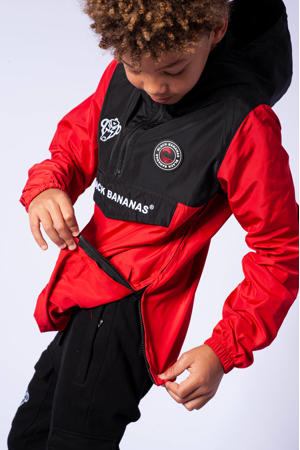 unisex  zomerjas rood/zwart