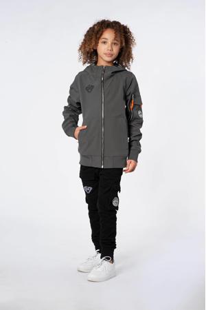 unisex  zomerjas met logo grijs