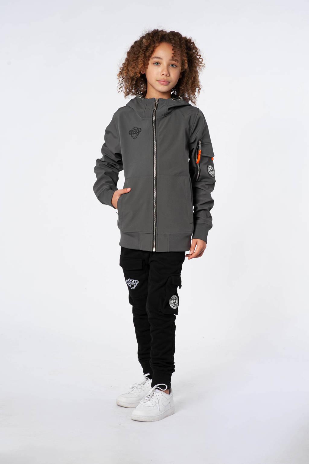 BLACK BANANAS  zomerjas met logo grijs, Grijs