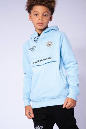 hoodie met logo lichtblauw
