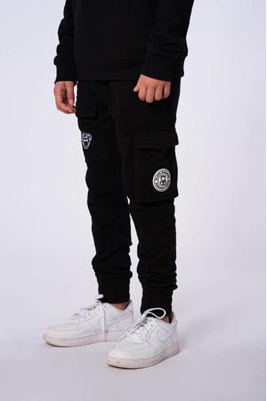 unisex slim fit joggingbroek met logo zwart