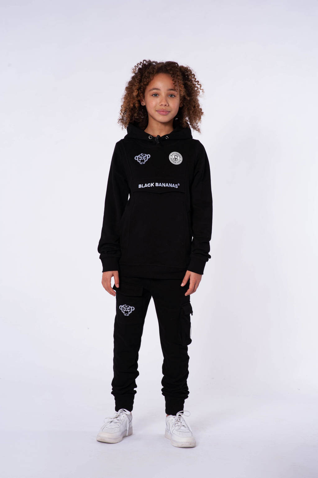 BLACK BANANAS hoodie met logo zwart, Zwart