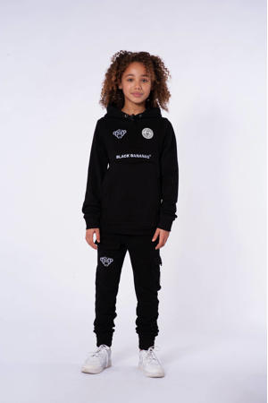 unisex hoodie met logo zwart