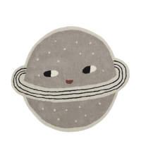 OYOY kindervloerkleed Planet  (Ø136 cm), Grijsbruin