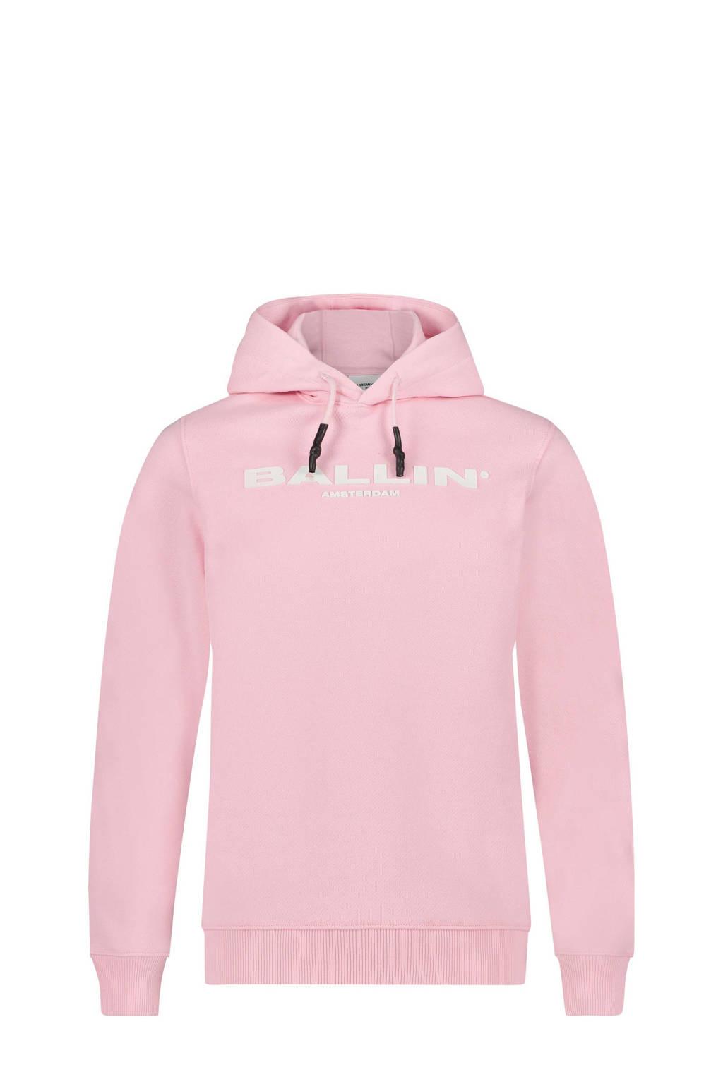 Ballin unisex hoodie met logo lichtroze, Lichtroze