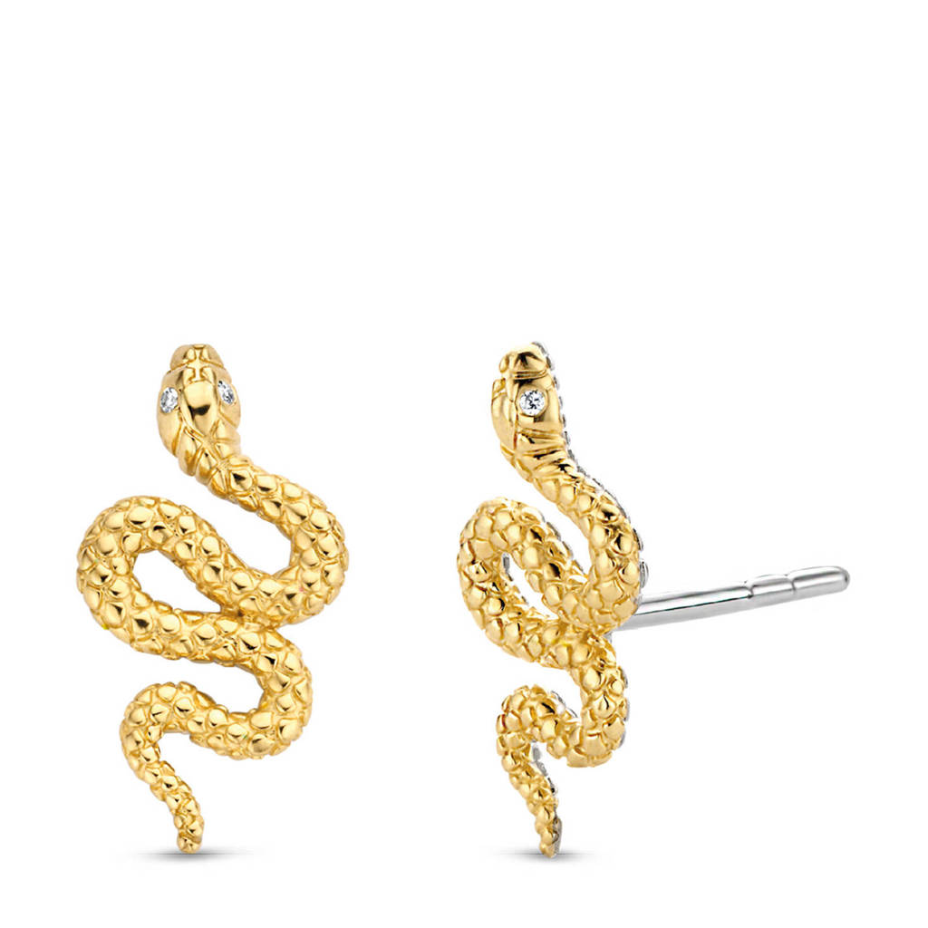 Ti Sento - Milano sterling zilveren oorbellen 7826SY, Goudkleurig