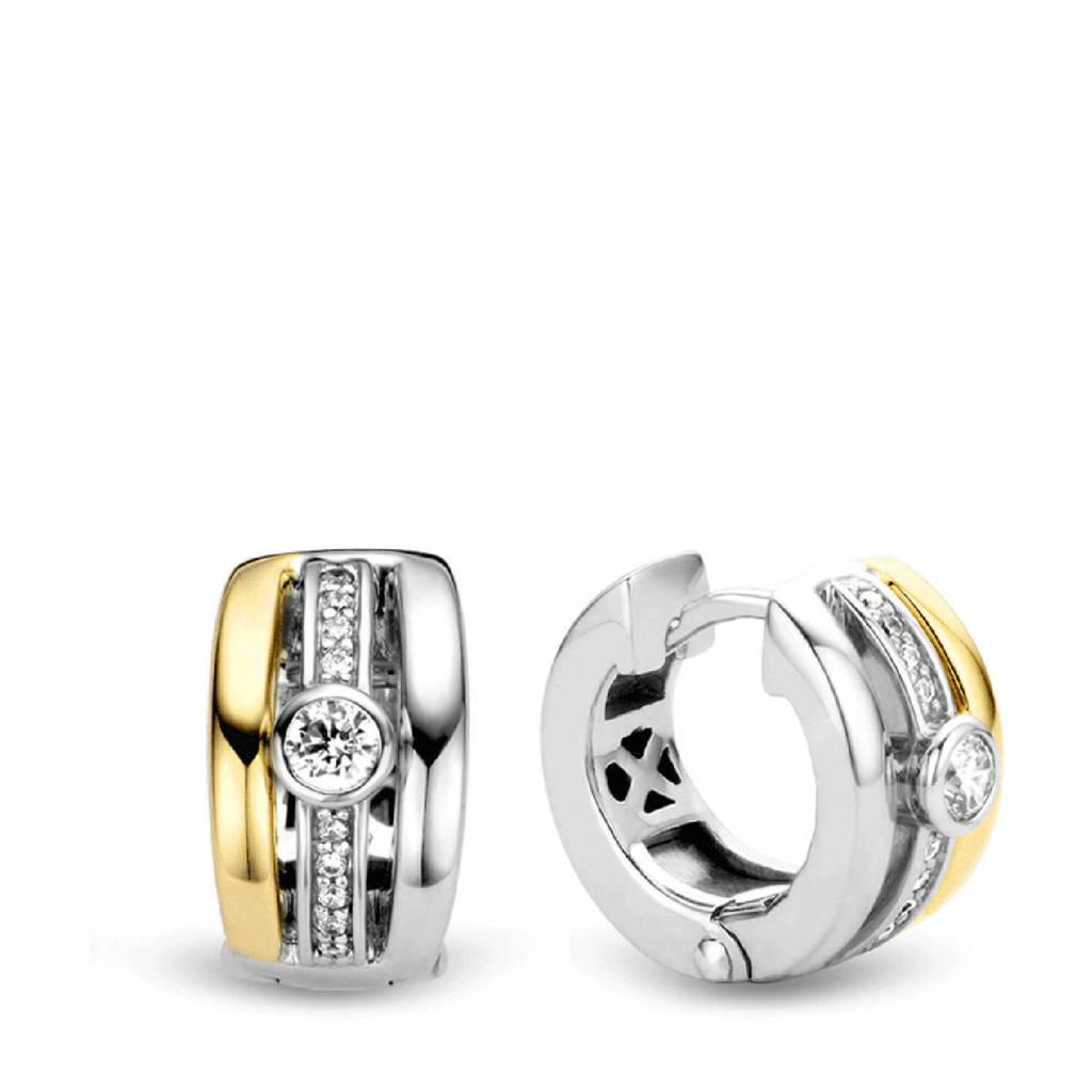 Ti Sento - Milano sterling zilveren oorbellen 7754ZY, Zilver/goudkleurig