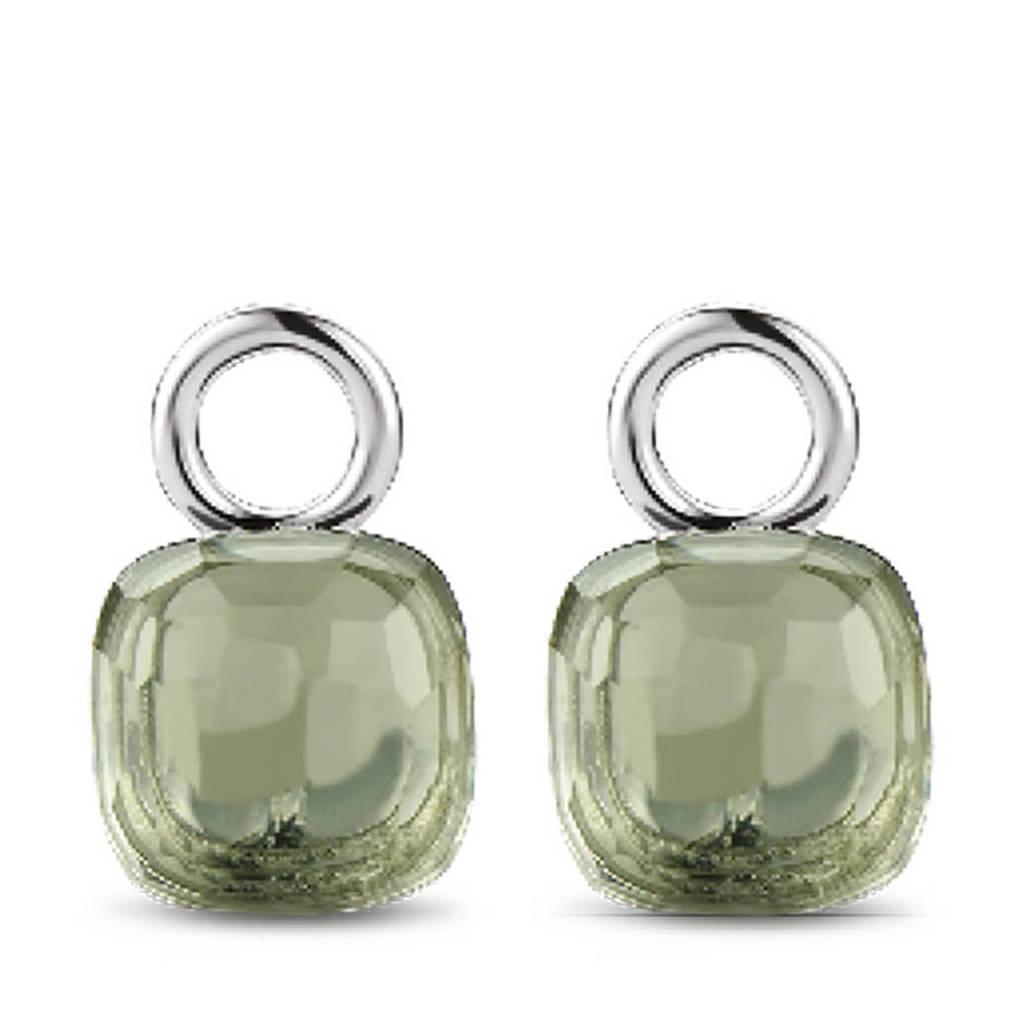 Ti Sento - Milano sterling zilveren oorbedels 9215GG, Zilverkleurig/groen