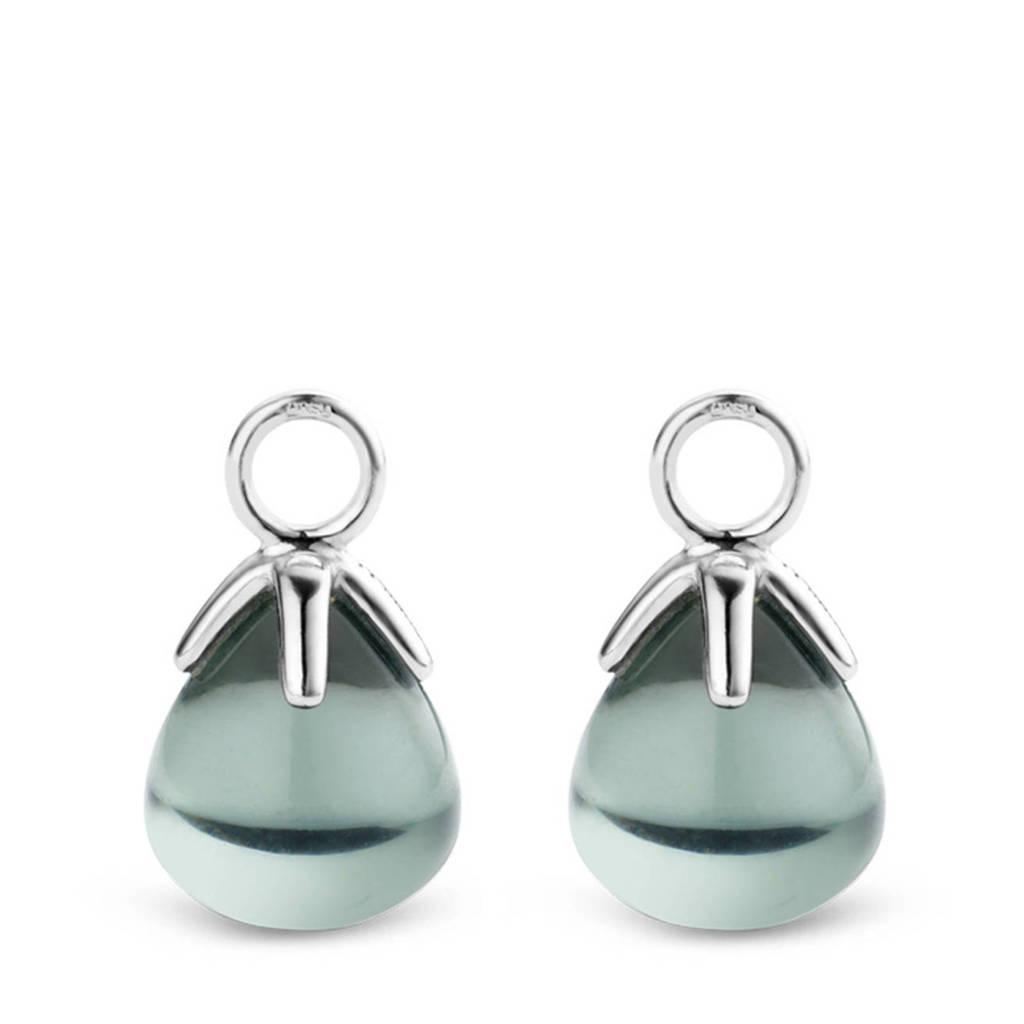 Ti Sento - Milano sterling zilveren oorbedels 9191GG, Zilverkleurig/groen