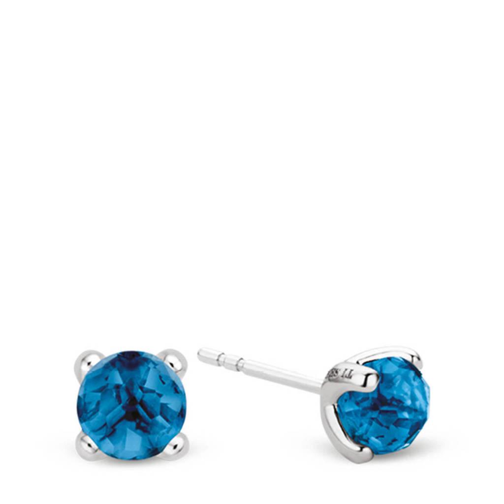 Ti Sento - Milano sterling zilveren oorbellen 7768DB, Zilverkleurig/blauw