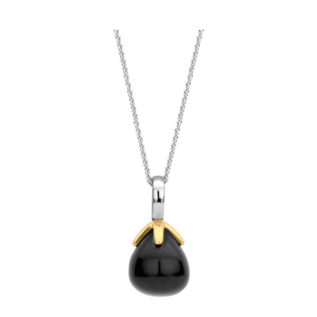 Ti Sento - Milano sterling zilveren hanger 6765BO, Goudkleurig/zwart