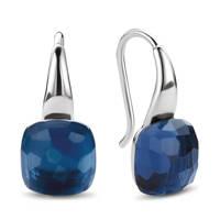Ti Sento - Milano sterling zilveren oorbellen 7815DB, Zilverkleurig/blauw