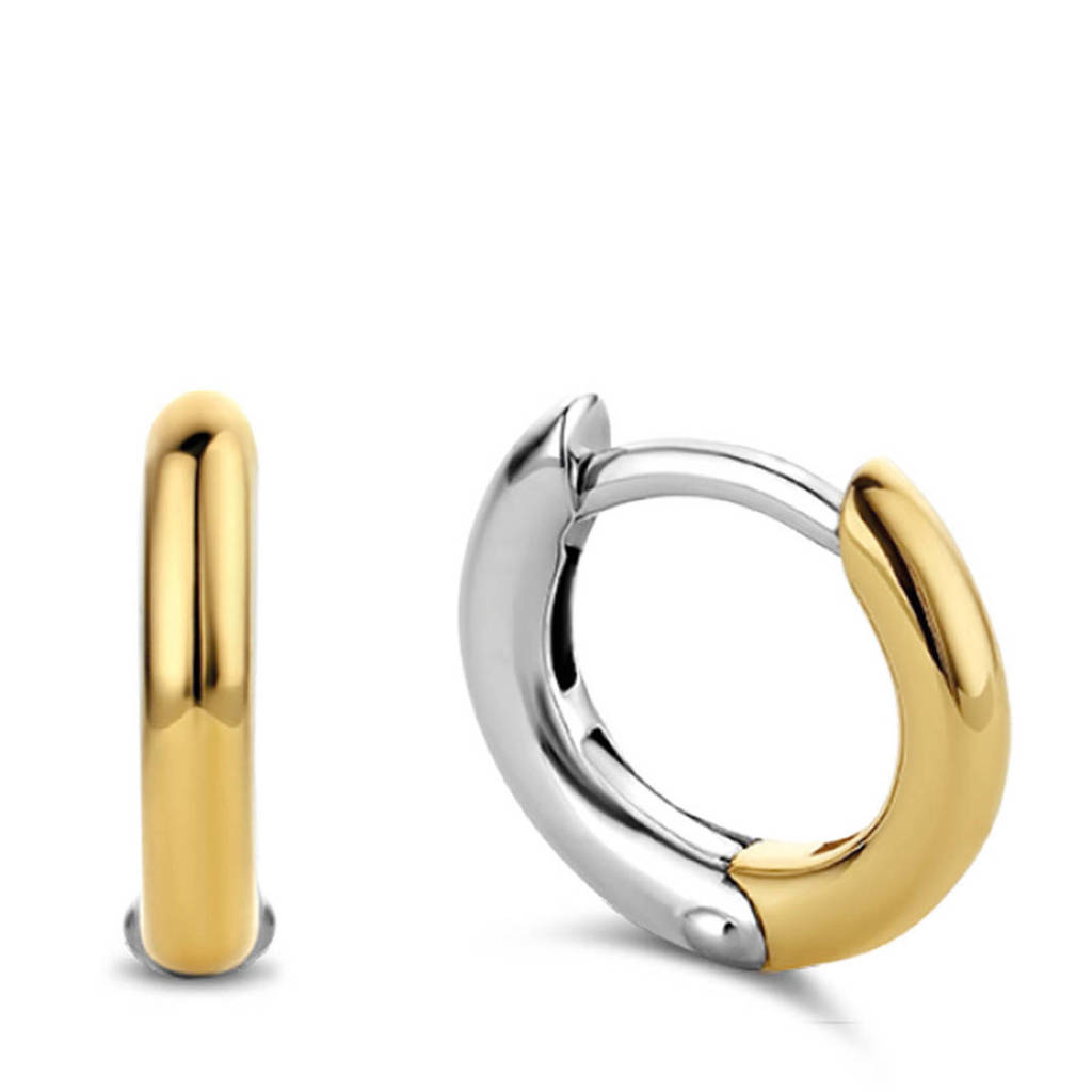 Ti Sento - Milano sterling zilveren oorbellen 7811SY, Zilver/goudkleurig
