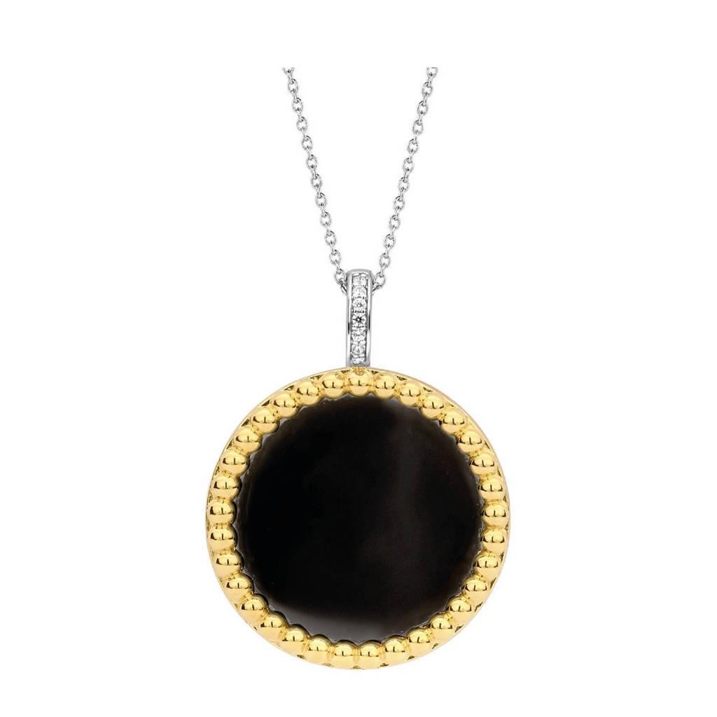Ti Sento - Milano sterling zilveren hanger 6794BO, Goudkleurig/zwart