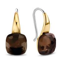 Ti Sento - Milano sterling zilveren oorbellen 7815TB, Goudkleurig/bruin