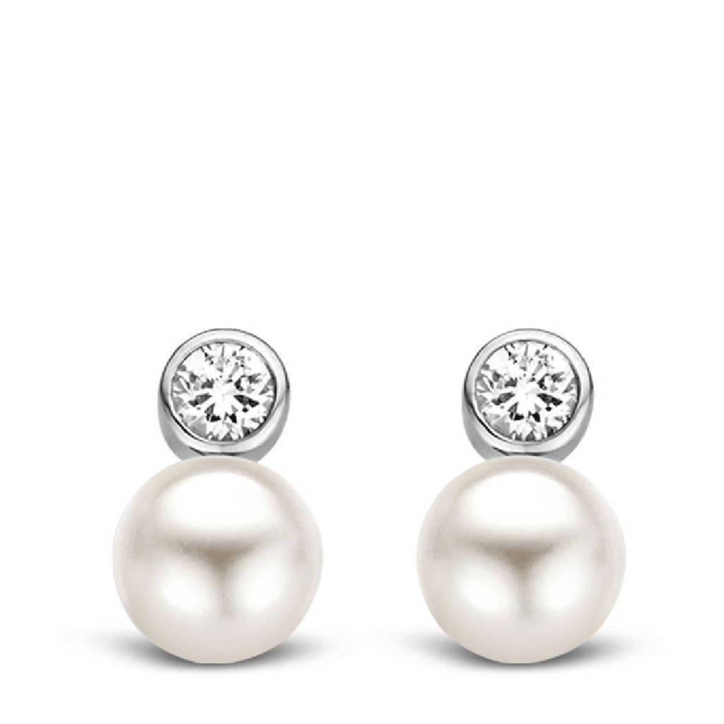 Ti Sento - Milano sterling zilveren oorbellen met parels 7590PW, Zilverkleurig