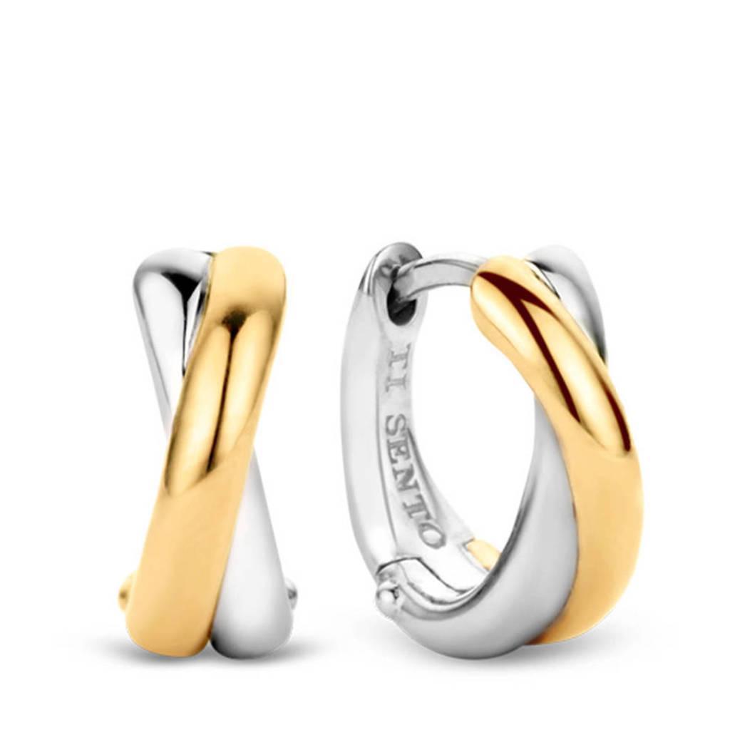 Ti Sento - Milano sterling zilveren oorbellen 7667SY, Goud/zilverkleurig