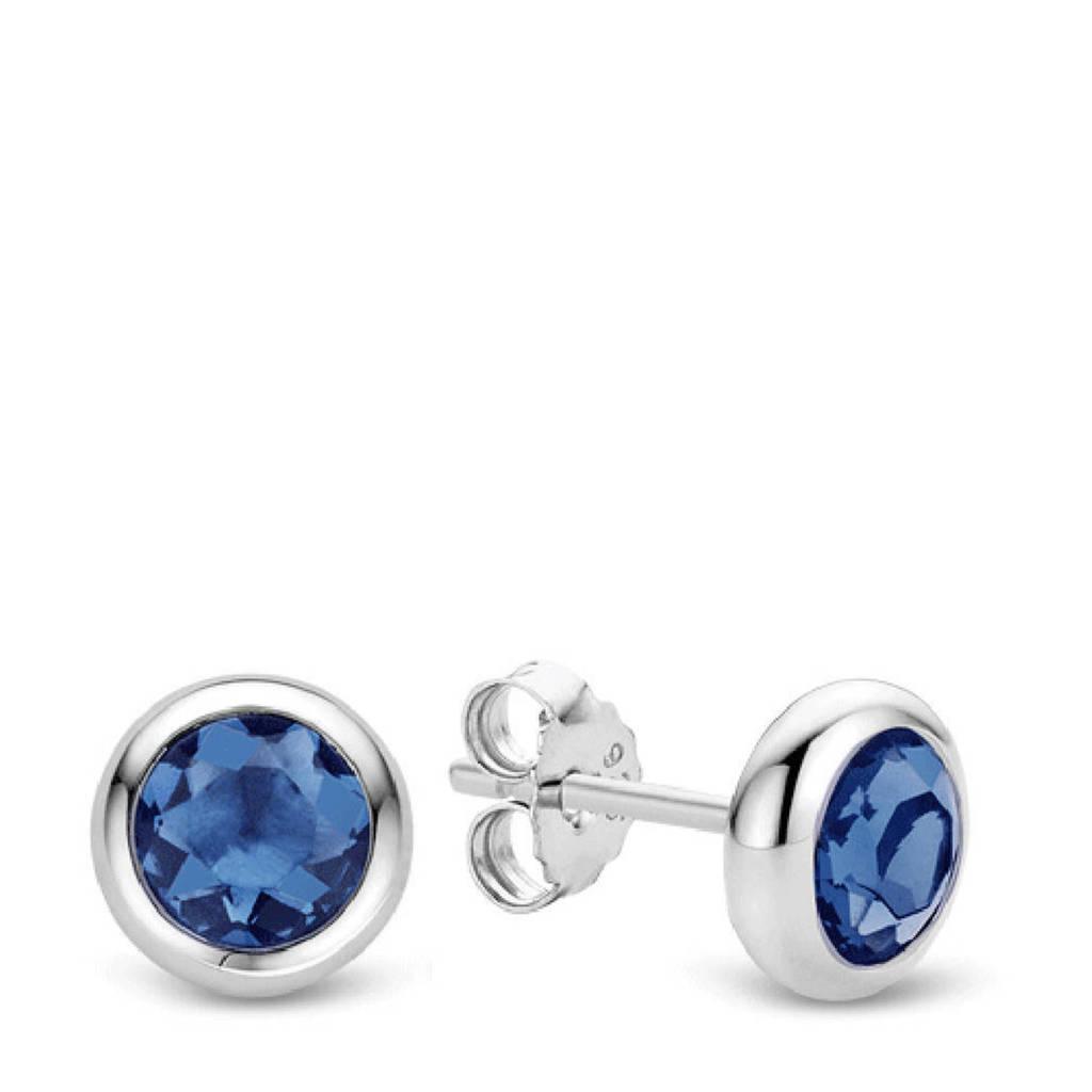 Ti Sento - Milano sterling zilveren oorbellen 7748DB, Zilverkleurig/blauw