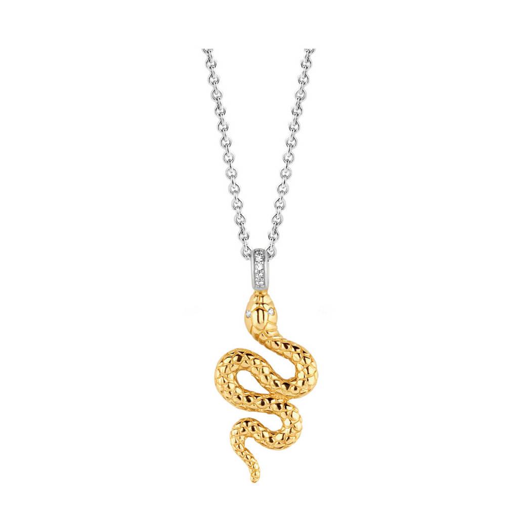 Ti Sento - Milano sterling zilveren ketting met hanger 3923SY, Zilver/goudkleurig