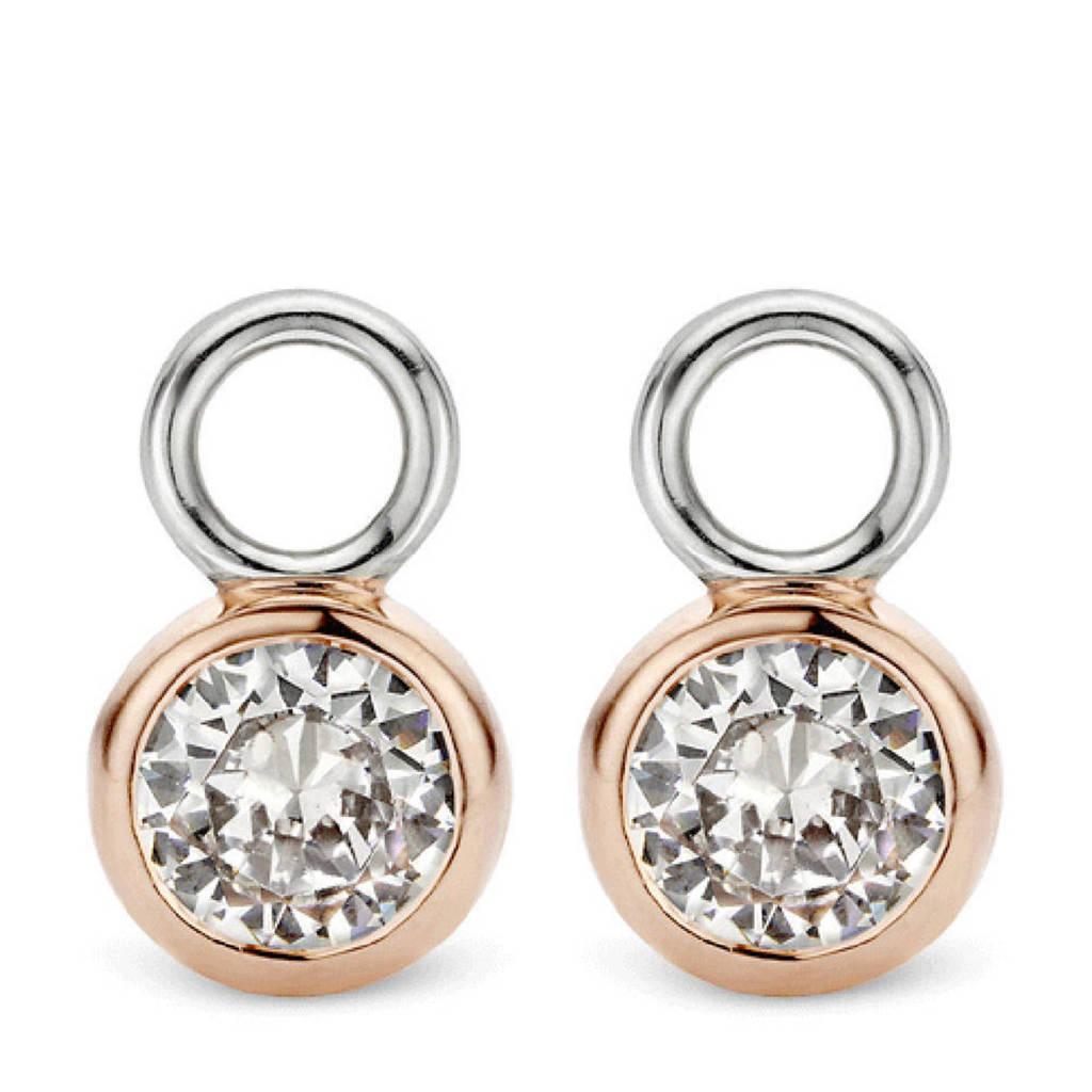 Ti Sento - Milano sterling zilveren oorbedels 9180ZR, Rosé