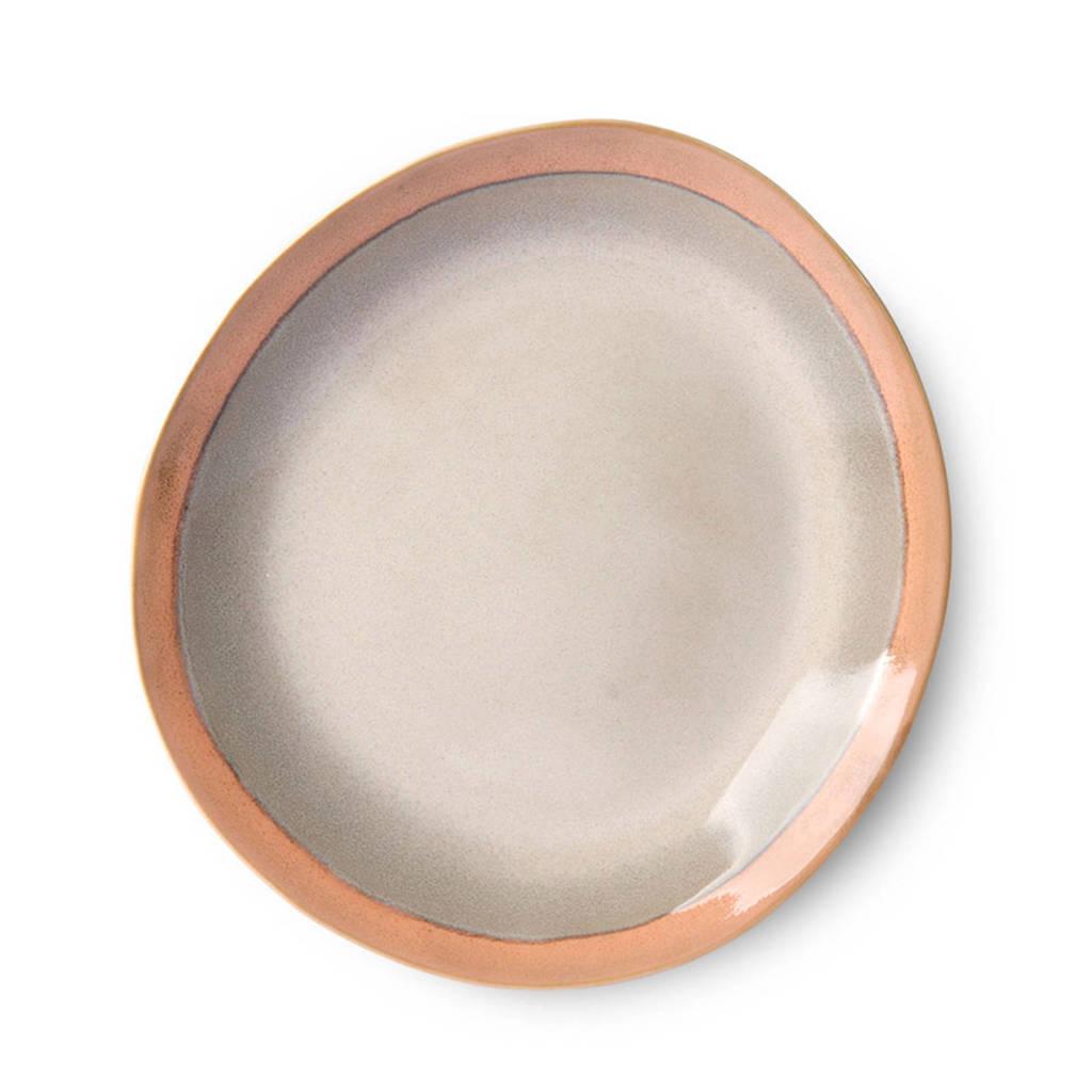 HKliving 70's ontbijtbord (Ø22 cm) (set van 2), Ecru