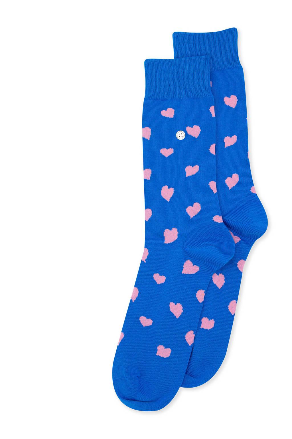 Alfredo Gonzales sokken Hearts blauw, Blauw