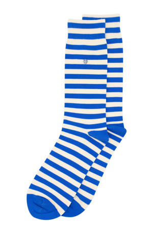 sokken Harbour Stripes blauw/ecru