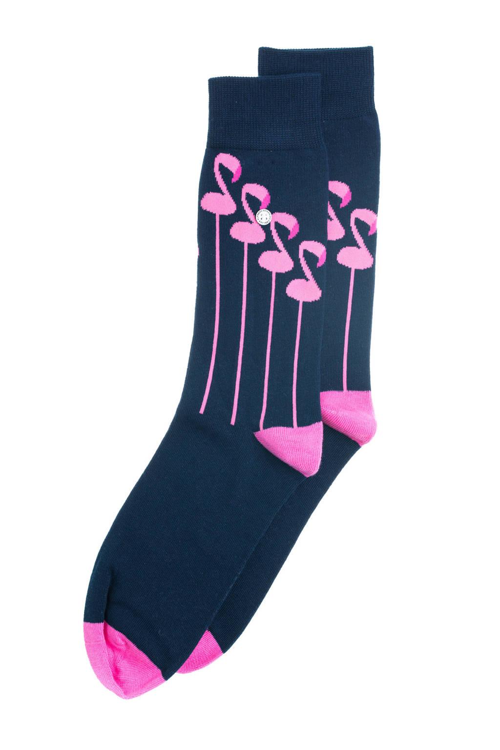 Alfredo Gonzales sokken The Flamingo donkerblauw, Donkerblauw
