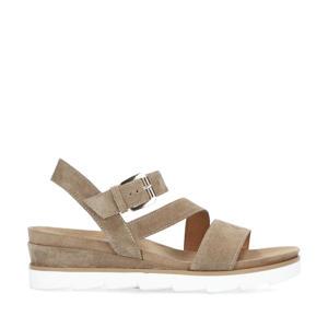 suède sandalen taupe