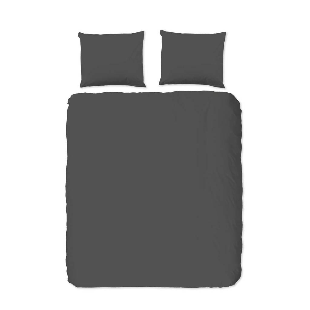 Hip katoenen dekbedovertrek lits-jumeaux, Lits-jumeaux (240 cm breed), Grijs