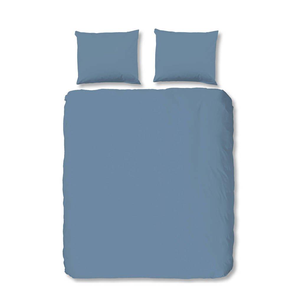 Hip katoenen dekbedovertrek lits-jumeaux, Lits-jumeaux (240 cm breed), Blauw