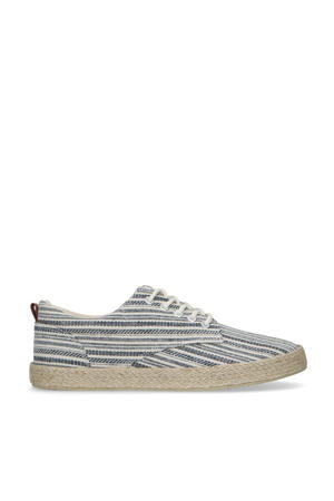 canvas sneakers blauw/wit