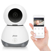 Alecto SMARTBABY10 Wifi babyfoon met camera, wit/grijs, Wit