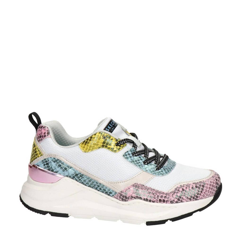 Skechers Street  dad sneakers met slangenprint wit/multi, Wit/multi