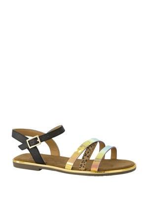 sandalen zwart/metallic