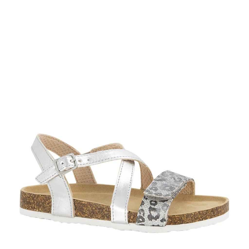 Graceland   sandalen met panterprint zilver, Zilver