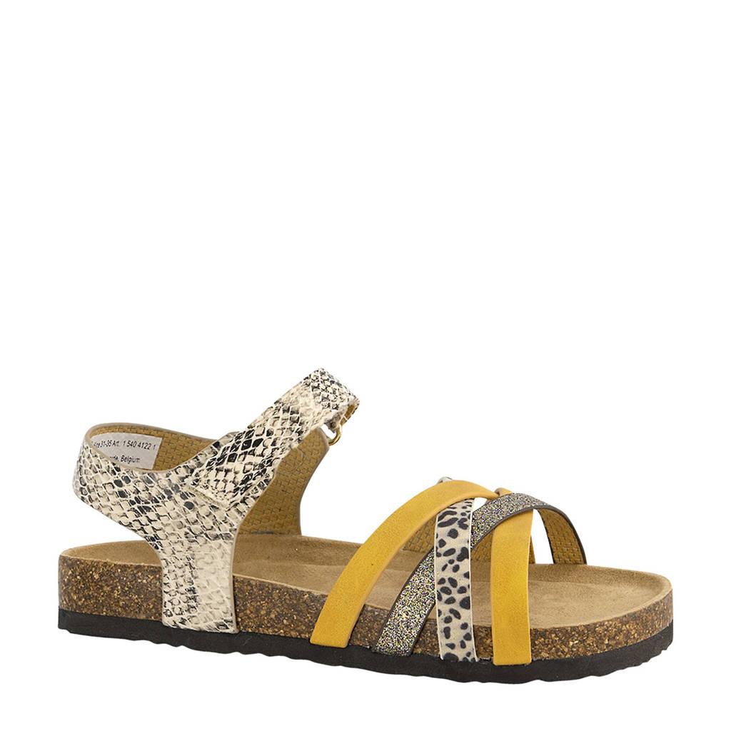 Graceland   sandalen met dierenprint beige/geel, Beige/geel