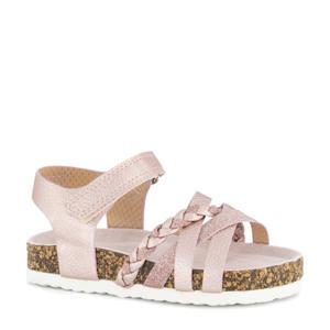 sandalen met glitters roze