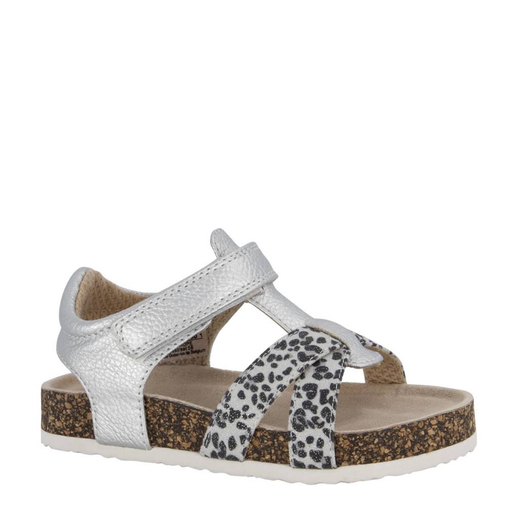 Cupcake Couture   sandalen met panterprint zilver, Zilver