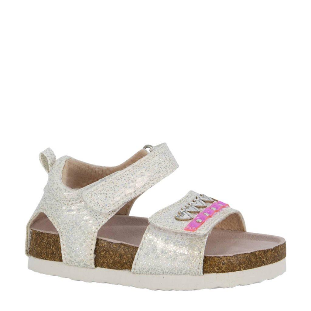 Cupcake Couture   sandalen met glitters wit, Wit/roze