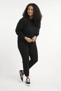 MS Mode slim fit joggingbroek zwart, Zwart