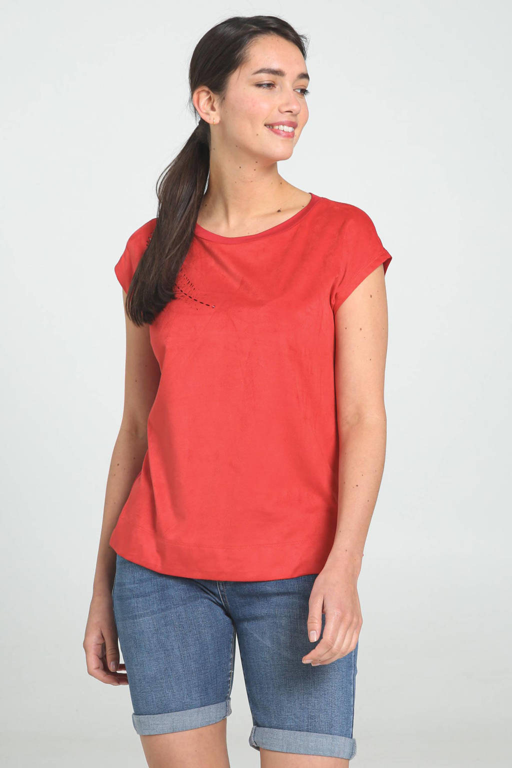 Cassis T-shirt rood, Rood