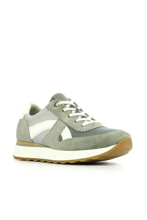4918  suède sneakers groen