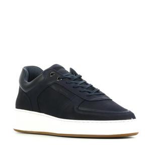 Jiro Lima  nubuck sneakers donkerblauw