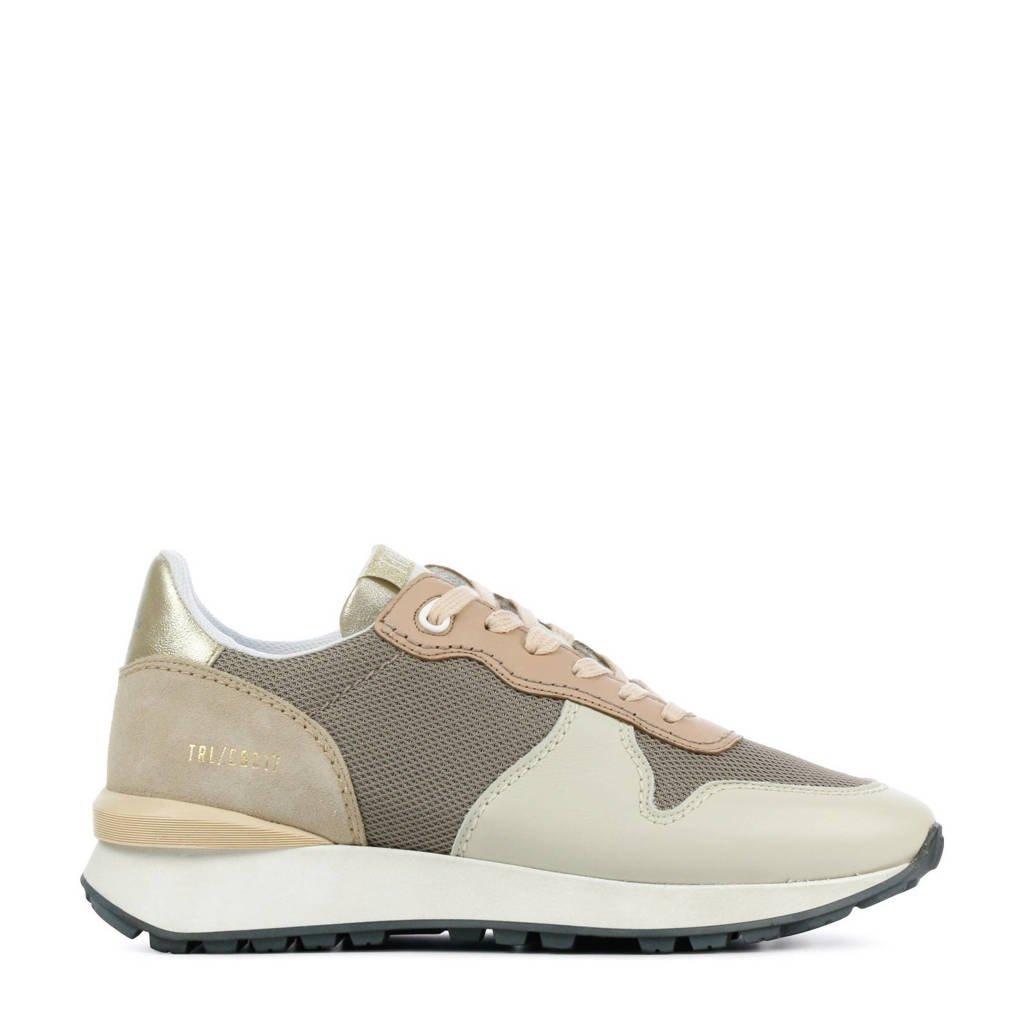 Toral 12637  leren sneakers taupe/multi, Taupe/multi