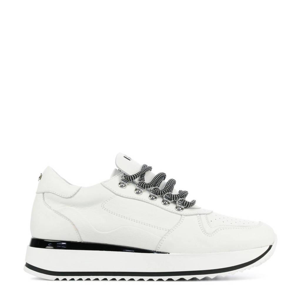 Red Rag 78130  leren sneakers wit, Wit
