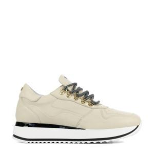 78130  leren sneakers ecru