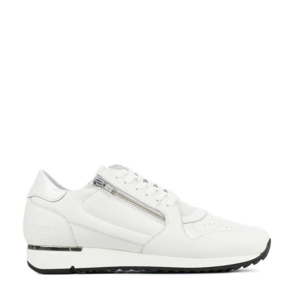 Red Rag 76748  leren sneakers wit, Wit