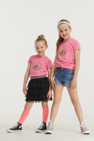 T-shirt met stippenprint roze/geel