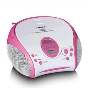 SCD-24PK KIDS Draagbare stereo FM radio met CD-speler - Roze